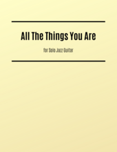 All The Things You Are guitar sheet music
