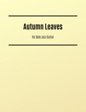 Autumn Leaves jazz guitar sheet music