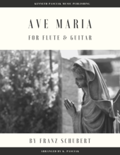 Ave Maria Schubert Flute Guitar Sheet Music