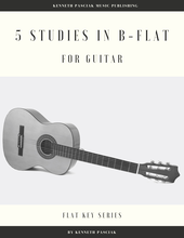 Five Studies in Bb guitar sheet music