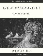 La Fille aux Cheveux de Lin Girl with Flaxen Hair Debussy guitar sheet music