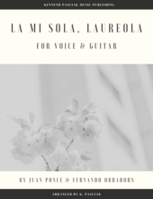 La_mi_sola_Laureola_Obradors_Voice_Guitar_Sheet_Music