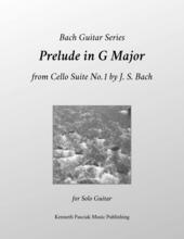 Prelude in G Major for Cello Bach Guitar Sheet Music