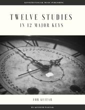 Twelve Studies in 12 Major Keys Guitar Sheet Music
