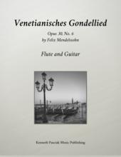 Venetian Gondola Song Mendelssohn Flute Guitar Sheet Music