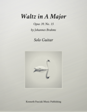 Brahms Waltz in A Major for Guitar
