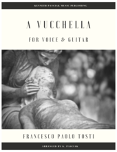 A Vucchella by Francesco Paolo Tosti arranged for voice and guitar