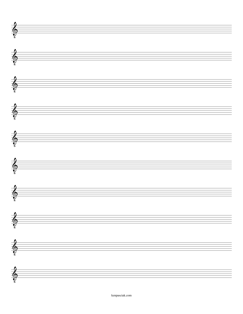 blank staff w clef