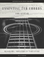 Essential Seventh Chords Notation Tablature Fretboard Diagrams for Guitar