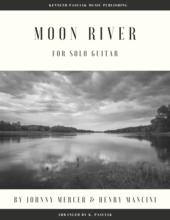 Moon River sheet music and tablature for guitar