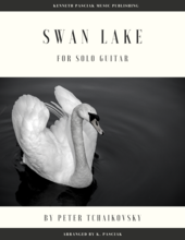 Swan Lake by Peter Tchaikovsky sheet music for solo guitar